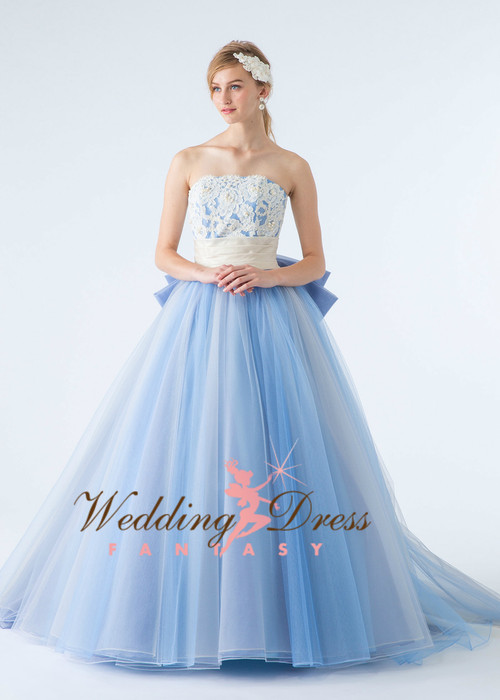 Baby Blue Wedding Dress