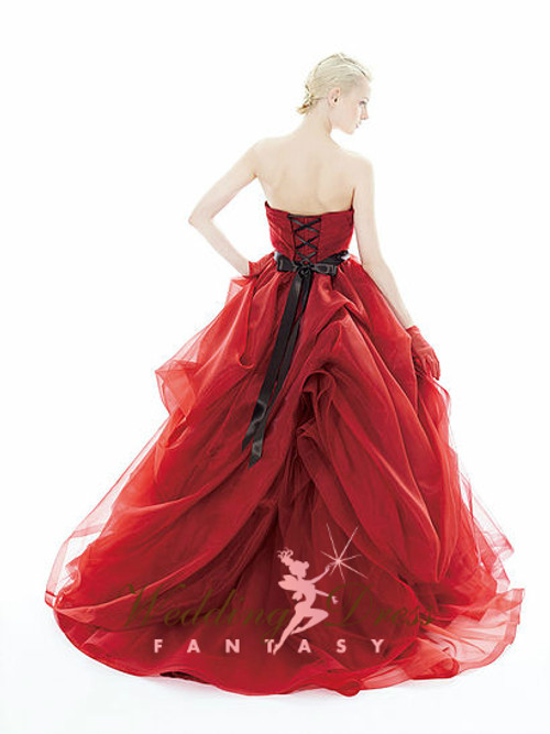 Red Wedding Dress with Black
