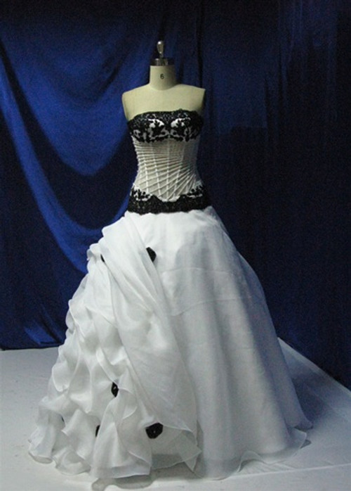 Black and White Wedding Dress - Available in Every Color 3