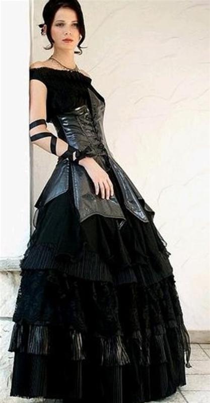 Black Gothic Wedding Dress 1