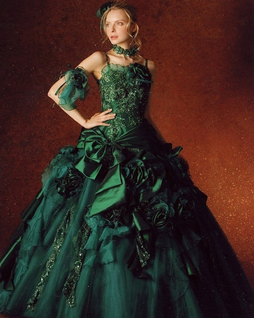 Green Wedding Dress Color