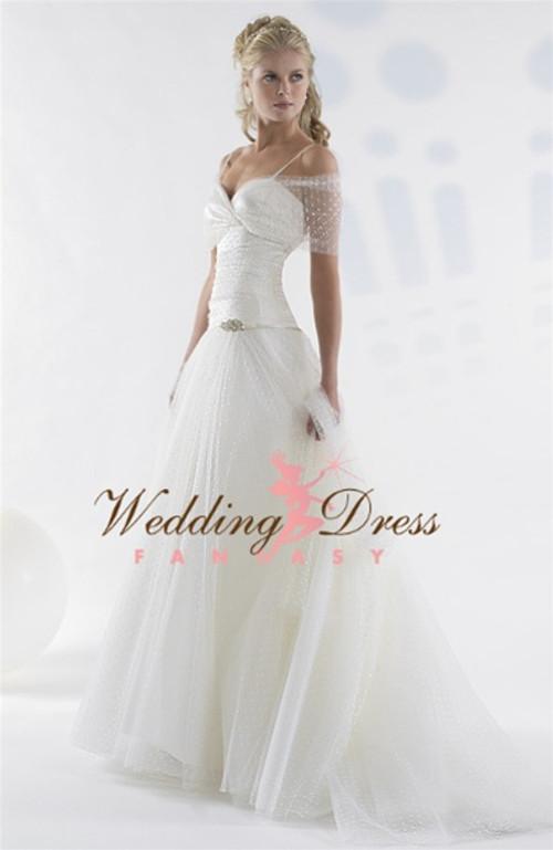 Point D'Esprit Lace Couture Wedding Dress Lexy