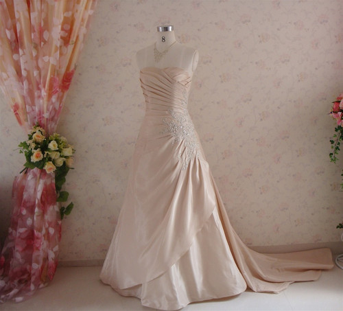 Gold Taffeta Wedding Dress - Available in Every Color 4