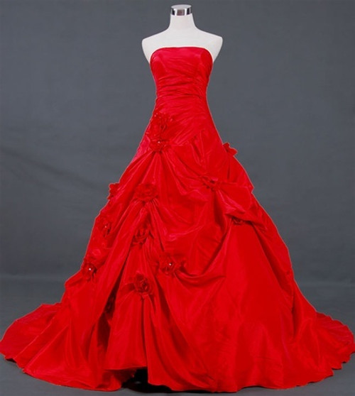 Red Wedding Dress Ballgown