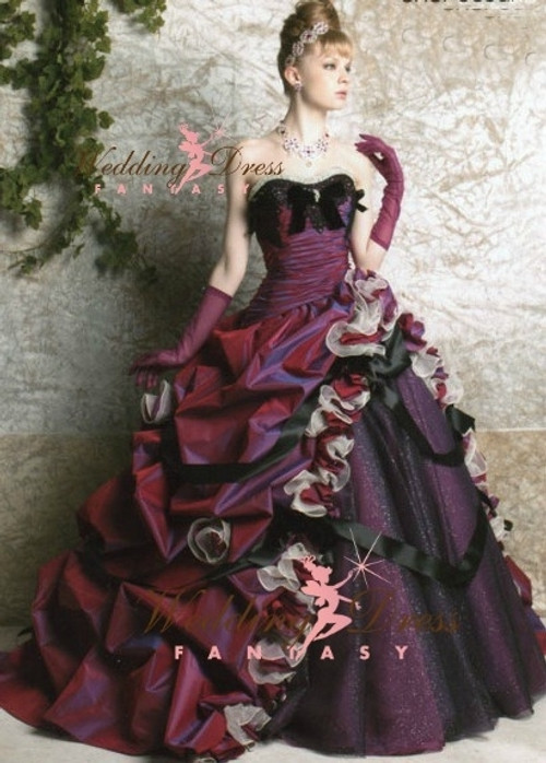Purple Unique Wedding Dress