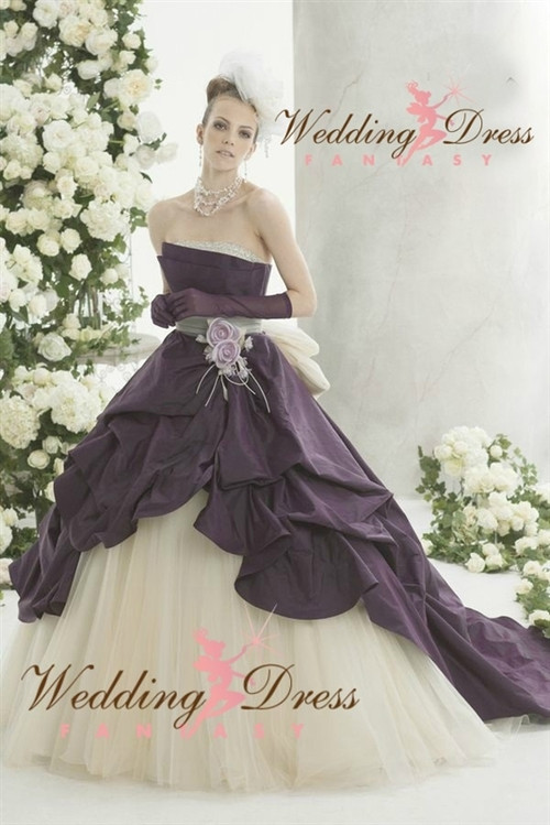 Wedding Dresses with Lavender Accent