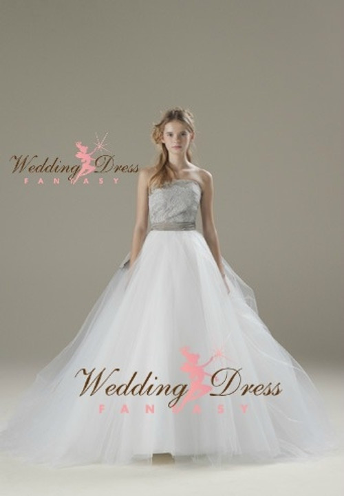 Gray and White Wedding Dress Available in Every Color