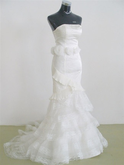 Trumpet Style Vintage Inspired Wedding Dress- Available in Every Color