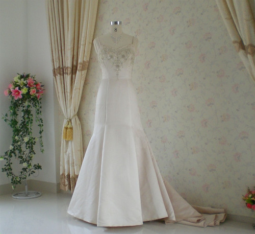 Trumpet Style Vintage Inspired Wedding Dress- Available in Every Color 4