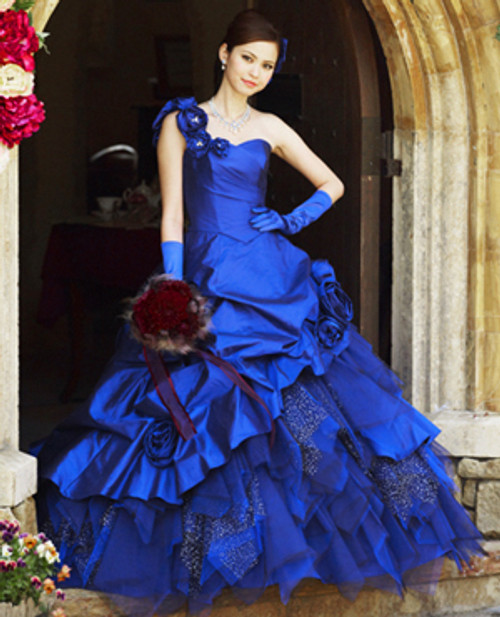 royal blue wedding dress