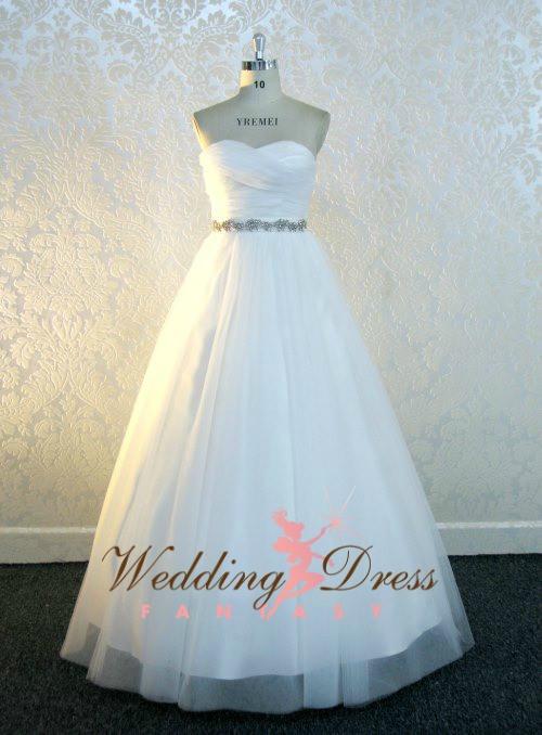 Custom Wedding Dress with Criss Cross Neckline