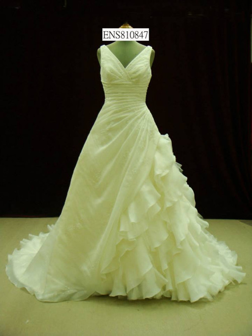 Organza Wedding Dress with Straps - Available in Every Color 60