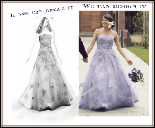Custom wedding dress for Angel