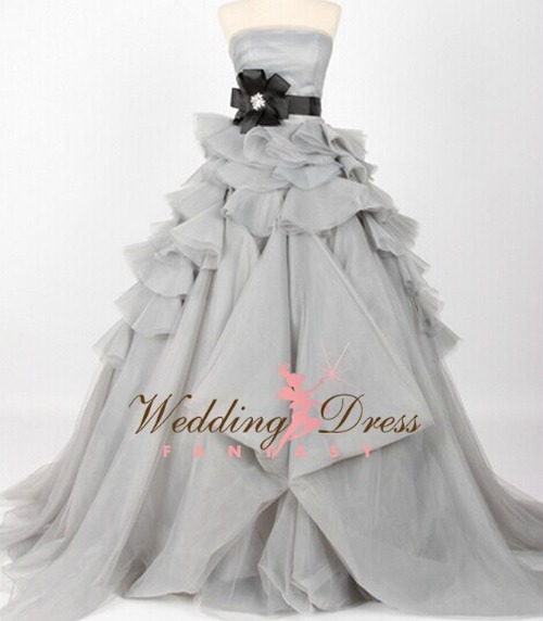Gray Wedding Dress