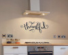 So Thankful Elegant Lettering Vinyl Wall Decals Thanksgiving Home Decor-Black