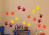 Wall Decals Handprint Kids Hand Vinyl Stickers for classroom, daycare, preschool-Red, Orange, Yellow