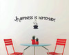 Happiness is Homemade Saying for the Kitchen Decor, Vinyl Kitchen Wall Decals-Black