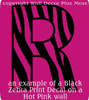 Zebra Print Die-Cut Decal Wall Décor Sticker