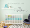 You are my Sunshine Quotes Wall Decal Stickers for Nursery Decor Baby Room