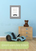 Dream Big Stache Nursery Wall Decor Canvas Wall Art Print for Baby Room