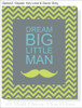 Dream Big Canvas Wall Art Print for Baby Room Nursery Wall Decor
