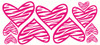 Hot Pink Zebra Heart Print Wall Sticker