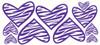 Purple Girls Zebra Heart Decals