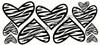 Black Zebra Print Wall Décor Heart stickers
