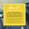 Plural Last name tips