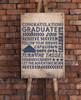 Congrats Grad Success Graduation Adventure Art Lettering Vinyl Decals Sticker