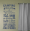 Camping Rules Subway Summertime Art Quotes Wall Letters Decals