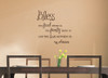 Bless Food, Family, Love Wall Sticker Decals Kitchen Quote  ChBrown