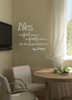 Bless Food, Family, Love Wall Sticker Decals Kitchen Quote White