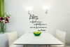 Bless Food, Family, Love Wall Sticker Decals Kitchen Quote Black