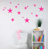Variety Star Wall Stickers Vinyl Decals Shapes Hot Pink