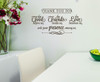 Thank You for Food, Friends, Love Wall Decal Stickers Kitchen Wall Words ChBrown