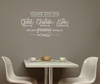 Thank You for Food, Friends, Love Wall Decal Stickers Kitchen Wall Words White