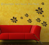 Flower Wall Stickers Vinyl Decal for Girls Room Decor ChocBrown