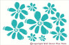 Flower Wall Stickers Vinyl Decal for Girls Room Decor