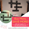 Alphabet Scrabble Tile Wall Decal Stickers - Buy More Save More! With every quantity of 4 you add to your cart, you will see a discount!