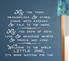 Dragonflies and Stars Wall Decal Quote Vinyl Stickers for Nursery Room Decor-White