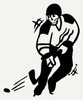 Hockey Player Silhouette Sports Wall Art Vinyl Decal Stickers