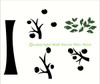 Tree Wall Decal Silhouette Vinyl Stickers for Family Photo with Leaves Branches