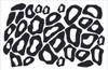 Leopard Print or Cheetah Wall Stickers Vinyl Decal Jungle Theme Circles