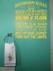 Bathroom Rules Subway Art Wall Sticker Vinyl Decal Bath Wall Letters