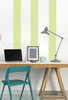 Peel n Stick Wall Application - 6 inch Celadon Stripes to create a Wall Design, Office vertical stripes