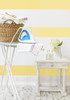 Peel n Stick Wall Application - 6 inch Buttercream Stripes to create a Wall Design, Laundry Room horizontal stripes