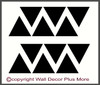 Triangle Wall Decal Stickers Shapes Simple Easy Wall Application