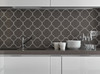 Quatrefoil Pattern Vinyl Wall Decal Sticker Shapes for Wall Décor Light Gray Kitchen Backsplash