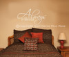 Always and Forever Master Bedroom Decor Love Wall Decal Stickers Vinyl Wall Letters